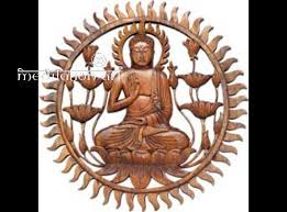 wood buddha plaque