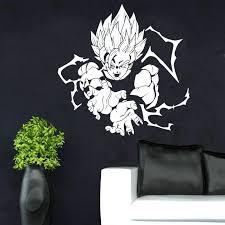 Vegeta Super Saiyan Vinyl Wall Decal Dragon Ball Z Dbz Anime Wall Art Sticker For Car Car Truck Window Waterproof Lz24 Wall Stickers Aliexpress