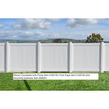 Ez Fence Vinyl Privacy Fence 6ft X 6ft White