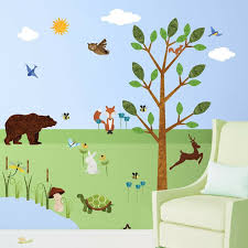 My Wonderful Walls Forest Peel And Stick Woodland Wall Decal Wayfair