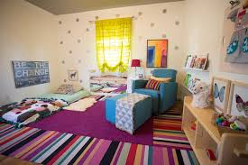 Gorgeous Glider Rocker With Ottoman In Nursery Eclectic With Kids Beds Next To Bed On Floor Alongside Baby Cot And Mattress On Floor