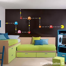 Pacman Wall Sticker Custom Gamer Wall Decals Wall Art Studios Sa