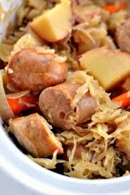slow cooker sauer and sausage