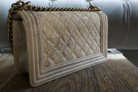 jeans stained white leather purse