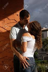 beautiful y young kissing in