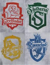 Hogwarts House Crests Vinyl Decal Slytherin Gryffindor Hufflepuff Ravenclaw Art Art Posters