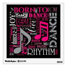 Born To Dance Pink Id277 Wall Decal Zazzle Com