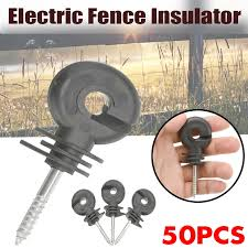 Hot Deal 50pcs Electric Fence Offset Ring Insulator Fence Safe Wire Fencing Screw Accessories Shopee Philippines