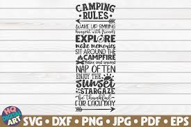 Camping Rules Camping Quotes Graphic By Mihaibadea95 Creative Fabrica
