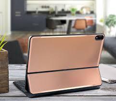 Leather Rose Gold With Satin Rose Gold Vinyl Skin Decal For Apple Smart Keyboard Folio Ipad Pro 11 Ipad Pro 12 9 Ipad Pro 2020 Magic