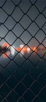 Chain Link Fence Behind Bokeh Iphone X Wallpapers Free Download