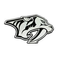 Nhl Nashville Predators 3d Chrome Metal Emblem Target