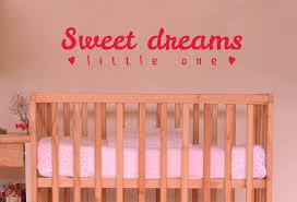 Sweet Dreams Little One Vinyl Sticker Wall Art Company