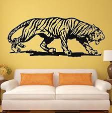 Tiger Wall Stickers Animal For Room Nursery Predator Tribal Vinyl Decal Ig704 Ebay