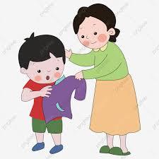 أمي الكرتون فساتين الطفل عيد الأم والحب الأم واللباس أمي