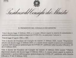 Coronavirus, il testo del DPCM firmato dal premier Giuseppe Conte