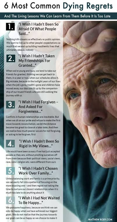 Most Common Dying Regrets