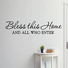 Vwaq Bless This Home And All Who Enter Wall Decal Walmart Com Walmart Com