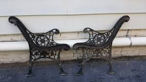 garden bench ends lion head