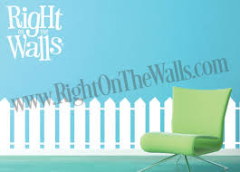 White Picket Fence Vinyl Wall Decal Stickers