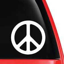 Peace Symbol Weatherproof Vinyl Decal