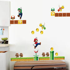 Super Mario Kids Nursery Removable Wall Decal Vinyl Stickers Art Home Decor Wall Stickers Bedroom Wall Stickers Buy From Wish2018 4 4 Dhgate Com