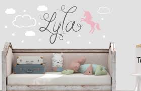 Excited To Share This Item From My Etsy Shop Unicorn With Name Wall Decal Personalized Name Wall Decal Name Wall Decor Unicorn Wall Decal Star Wall Decals