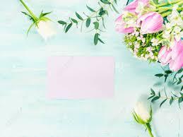 Vacias De Color Purpura Flores De Tarjetas De Rosas Tulipanes
