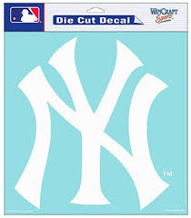 Amazon Com Wincraft New York Yankees Die Cut Decal 8 X8 White Sports Fan Decals Sports Outdoors