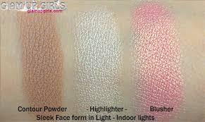 sleek makeup face form in light