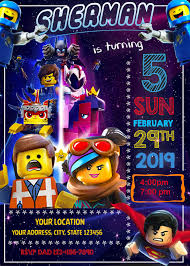 Lego Movie 2 Birthday Invitation Fiesta De Cumpleanos Lego
