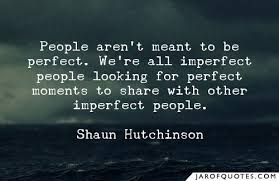 people aren t meant to be perfect we re all imperfect people