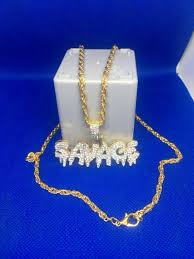 Savage pendant necklace gold plated. in HX5 Calderdale for £12.00 ...