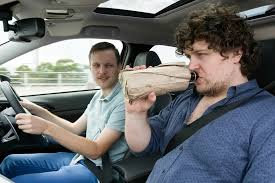 passengers to drink in a car
