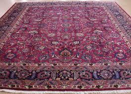 magenta red navy oriental rug
