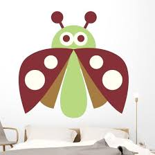Cute Little Lady Bug Wall Decal Wallmonkeys Com