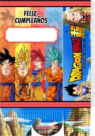 Molde Caja Sorpresa Dragon Ball Super Manualidades Mamaflor