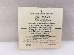 1964 Dri Mark Houston Astros Window Decal