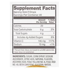 equate vitamin c supplement drops 80