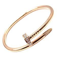 cartier juste un clou diamond rose gold