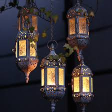 moroccan hanging glass tea light candle