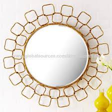 decorative metal round wall mirror