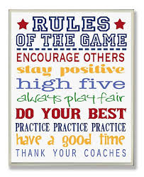 Stupell Industries The Kids Room Rules Of The Game Blue And Red Typography Wall Plaque Art 12 5 X 18 5 Reviews All Wall Decor Home Decor Macy S