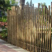 Rustic Bamboo Fence Safari Thatch Bamboo Fence Fence Design Bamboo Arbor