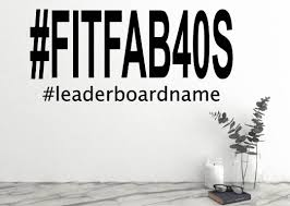 Fitfab40 S Peloton Facebook Group Name Custom Wall Decal Leaderboard Name Small 1 X 2 Wide