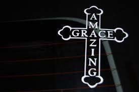 Amazon Com Amazing Grace Car Automobile Window Decal Automotive
