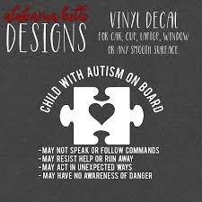 Autism Child On Board Car Decal Autism Decals Vinyl Car Stickers Decal Design