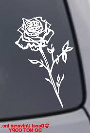 Rose Vinyl Decal Sticker Car Window Bumper Wall
