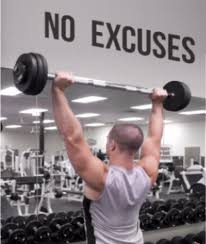 No Excuses Gym Wall Decal Motivational Wall Inspirational Wall Word Factory Design