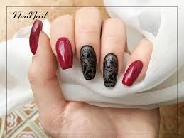 Czerwono Czarne Paznokcie Hybrydowe Neonail With Images